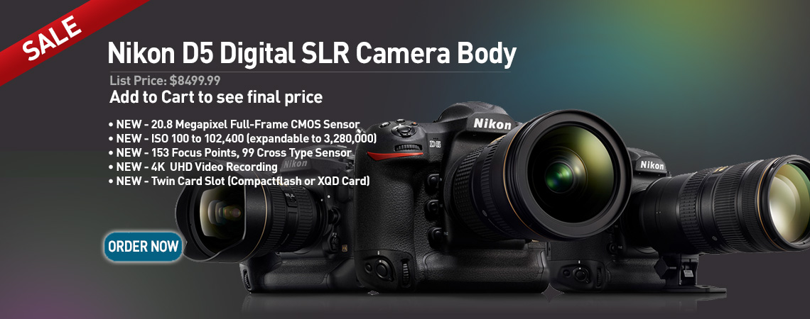 Nikon D5 Digital SLR Camera Body. Our Price: $8499.99. Order Now.