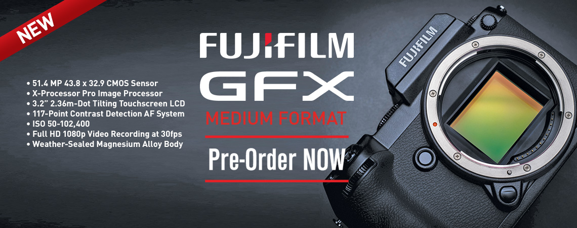 Fujifilm GFX 50s Medium Format Mirrorless Camera. Our Price: $8499.99. PreOrder Now