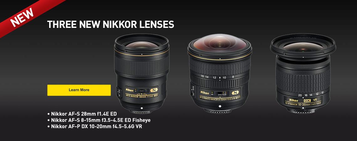 Just Announced. Three New Nikon Lenses.