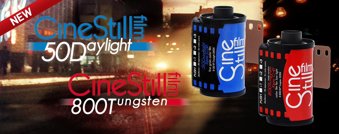 Now Carrying CineStill Film. Price starting at $15.99.