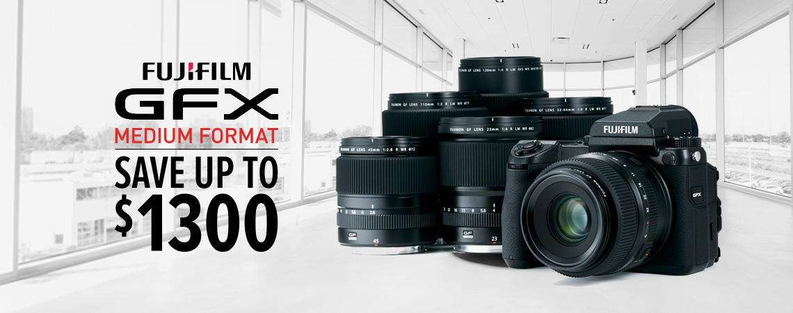Fujifilm GFX Products now on SALE.