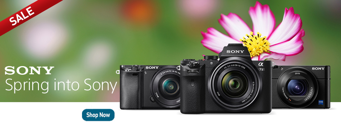 Spring into Sony. Shop Now.