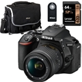 Nikon D5600 DSLR Camera w/ 18-55mm Bundle