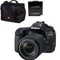 Canon EOS 80D DSLR Camera w/ 18-135mm Nano USM Bundle