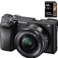 Sony A6300 W/ 16-50mm Power Zoom Lens (Black) (ILCE6300L/B)