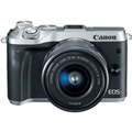 Canon EOS M6 Mirrorless Camera w/ 15-45mm Lens (Silver)