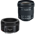 Portrait & Travel Bundle - EF 50mm F1.8 + EF-S 10-18 STM Lens