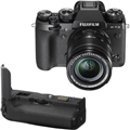 Fujifilm X-T2 w/ XF 18-55mm f2.8-4 R LM OIS Lens <br> w/ VPB-XT2 Vertical Power Booster Grip