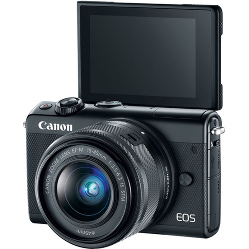 canon eos m100 w/ 15 45mm lens (black) | digital slr