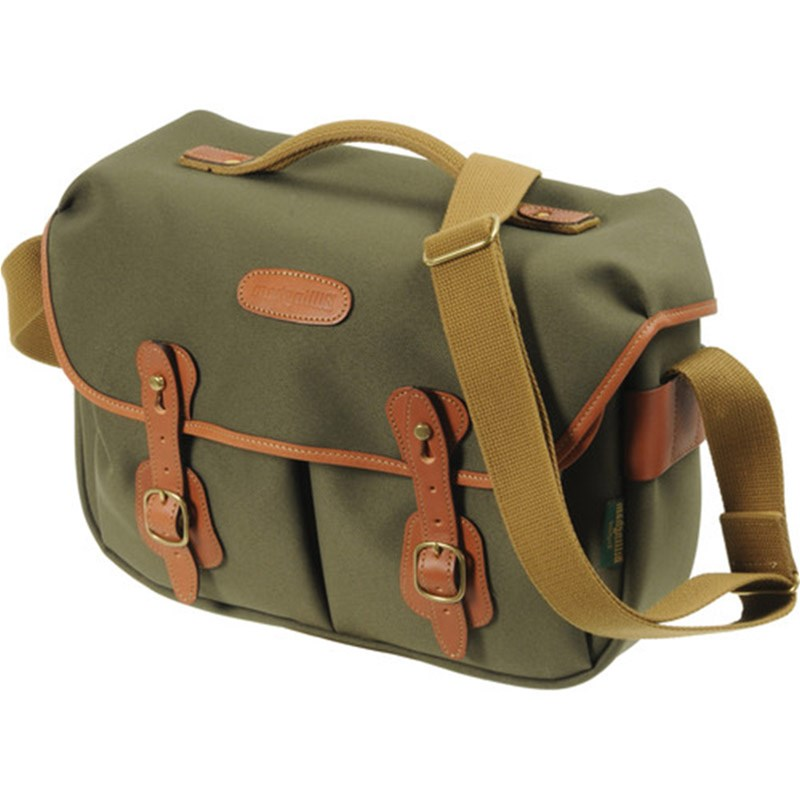 Billingham Hadley Pro(Sage Fibrenyte, tan leather, brass fittings)