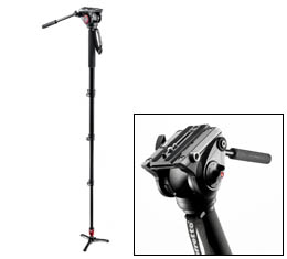 Manfrotto #MVM500A Fluid Video Monopod w/ 500 Head