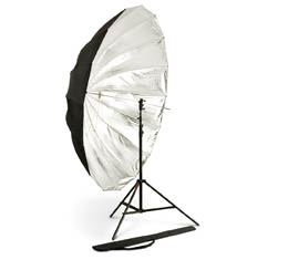 "Photoflex 72"" Black/Silver Umbrella (UM-ADH72)"