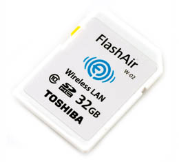 Toshiba FlashAir Wireless LAN  - 32GB SDHC Class 10