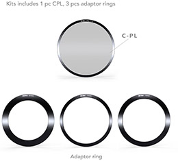 NiSi 100mm Aluminium Filter Holder Kit V5 Pro (67, 72, 77 and 82mm filter size Lenses)