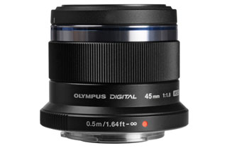 Olympus M.Zuiko Digital ED 45mm f/1.8 Lens (Micro Four Thirds - Black)