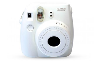 Fujifilm Instax Mini 8 Instant Camera (White) + Bonus Film (10 Exposures)