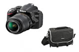 Nikon D3200 (Black) w/ AFS DX 18-55mm f3.5-5.6 VR II + Nikkor AF-S 55-200mm f4-5.6G IF-ED VR ** Sale w/ Nikon Camera Bag **