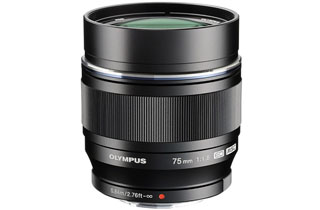 Olympus M.Zuiko Digital ED 75mm f/1.8 Lens (Micro Four Thirds - Black