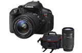 Canon Rebel T5i w/ EF-S 18-55mm IS STM, EF 55-250mm IS STM & Gadget Bag Combo