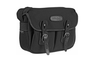 Billingham Hadley Small(Black fibrenyte, Black leather, Nickel fittings)