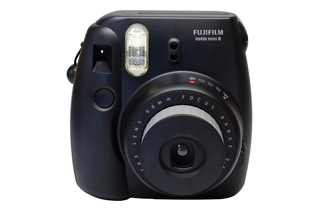 Fujifilm Instax Mini 8 Instant Camera (Black) + Bonus Film (10 Exposures)