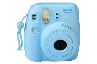 Fujifilm Instax Mini 8 Instant Camera (Blue) + Bonus Film (10 Exposures)