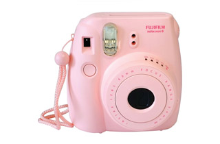 Fujifilm Instax Mini 8 Instant Camera (Pink) + Bonus Film (10 Exposures)