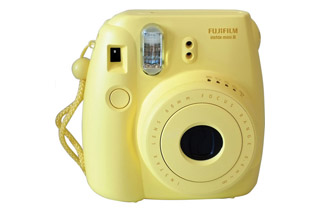 Fujifilm Instax Mini 8 Instant Camera (Yellow) + Bonus Film (10 Exposures)