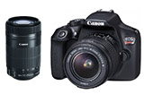 Canon EOS Rebel T6 DSLR w/ 18-55mm IS II & EF-S 55-250 IS STM Lens