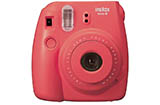 Fujifilm Instax Mini 8 Instant Camera (Raspberry) + Bonus Film (10 Exposures)