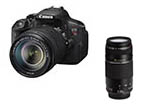 Canon Rebel T5i w/ EF-S 18-135mm IS STM & EF 75-300mm USM Combo with Bonus Canon Gadget Bag