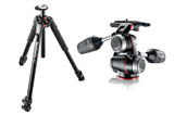 Manfrotto #MK055XPRO3-3W - 055 Aluminum 3-Section Tripodw/ MHXPro-3W - 3 Way Head