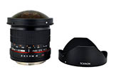 Rokinon 8mm F3.5 HD Fisheye w/ removable hood (For Canon EF - ROHD8MC)