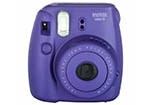 Fujifilm Instax Mini 8 Instant Camera (Grape) + Bonus Film (10 Exposures)
