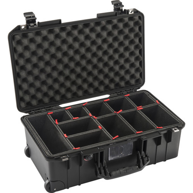 Pelican 1535AirTP Wheeled Carry-On Case<br> (Black, TrekPak Divider System)