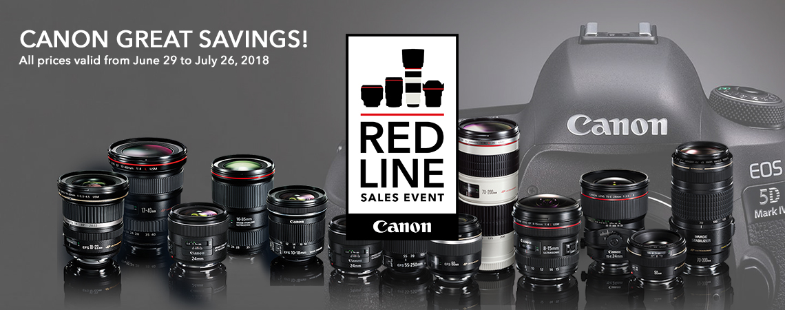 Canon Red line SALE event