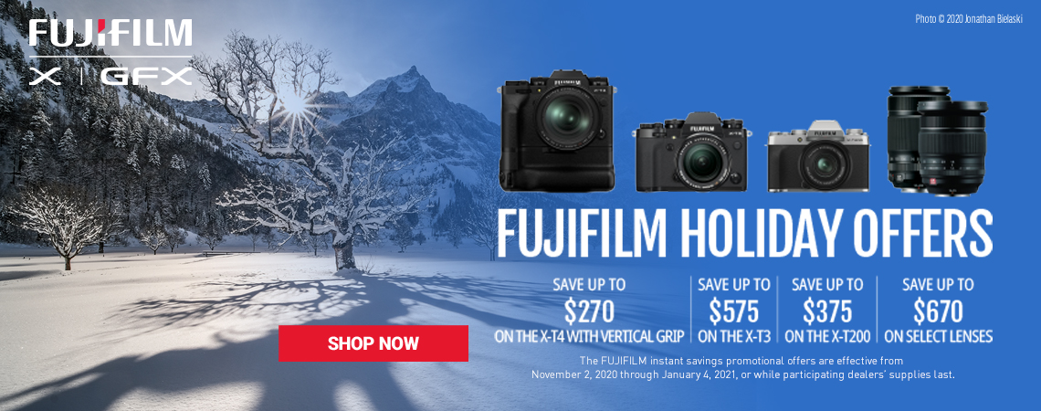 Fujifilm Holiday Offering Starts Now