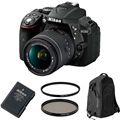 Nikon D5300 w/ AFS DX 18-55mm f3.5-5.6 VR II <br> + Accessories Bundle!