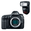 Canon EOS 5D Mark IV DSLR Camera (Body Only) + Canon Speedlite 470EX-AI Flash