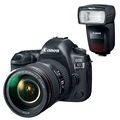 Canon EOS 5D Mark IV DSLR w/ 24-105mm F4L II IS USM Lens <br> (Damaged Box - New Unit) + Speedlite 470EX-AI Flash