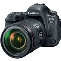 Canon EOS 6D Mark II DSLR Camera w. 24-105mm F4 L IS II Lens - (Damaged Box - New Unit) + Speedlite 470EX-AI Flash
