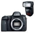 Canon EOS 6D Mark II DSLR Camera (Body) + Canon Speedlite 470EX-AI Flash