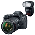 Canon EOS 6D Mark II DSLR Camera w/ 24-105mm F4 L IS II Lens + Canon Speedlite 470EX-AI Flash