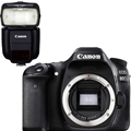 Canon EOS 80D DSLR Camera (Body Only)  <br> w/ Canon Speedlite 430EX III-RT Flash