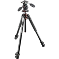 Manfrotto #MK190XPRO3-3W Aluminum Tripod with 3-Way Pan/Tilt Head