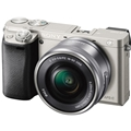 Sony a6000 w/16-50mm Power Zoom (Silver) (ILCE6000L/S)