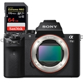 Sony Alpha A7II (Body Only) (ILCE7M2/B) <br> w/ Sandisk Extreme PRO 64GB 170mb/s SDXC UHS-1 Card + extra NP-FW50 battery