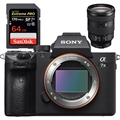 Sony Alpha a7 III Mirrorless Digital Camera (Body) <br>w/ FE 24-105mm F4 Lens & SanDisk Extreme PRO 64GB 170mb/s SDXC UHS-1 Card!