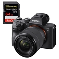 Sony Alpha a7 III Mirrorless Digital Camera w/ 28-70mm Lens <br>w/ SanDisk Extreme PRO 64GB 170mb/s SDXC UHS-1 Card + Spare Battery