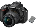 Nikon D5600 DSLR Camera AF-P DX Nikkor 18-55mm f3.5-5.6G VR Lens + extra EN-EL14a battery bundle